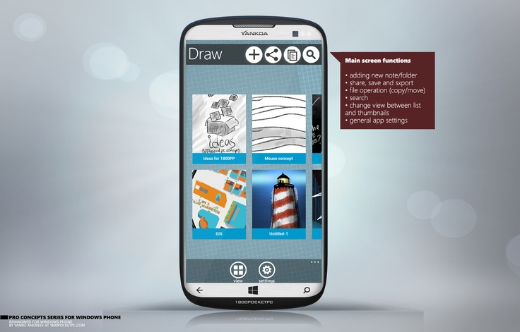 Drawing App Concept for Windows Phone