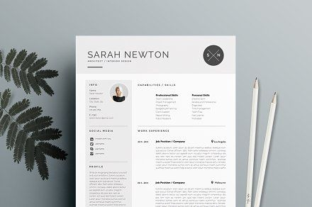 Resume Template 3page | Moonlight