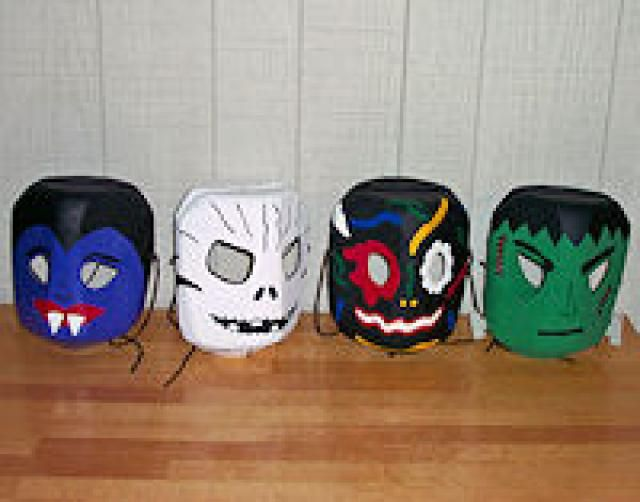 Milk Jug Crafts: Plastic Jug Masks