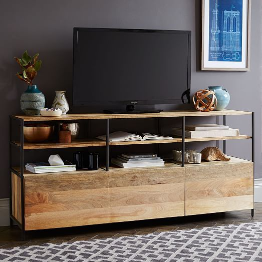 """Industrial Modular 67"""" Media Console   west elm - 67"""" x 17"""" x 30""""h - $1,199 (less 20% is $959.20)"""