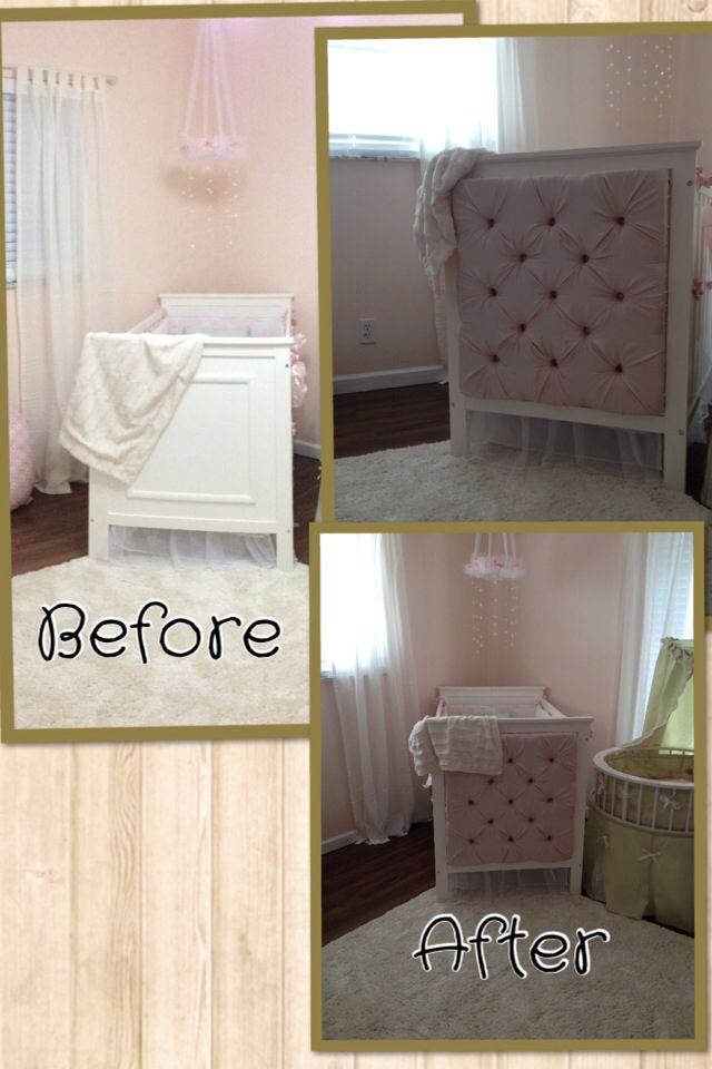 DIY Tufted baby crib   DIY tufted Crib   Pinterest   Baby ...