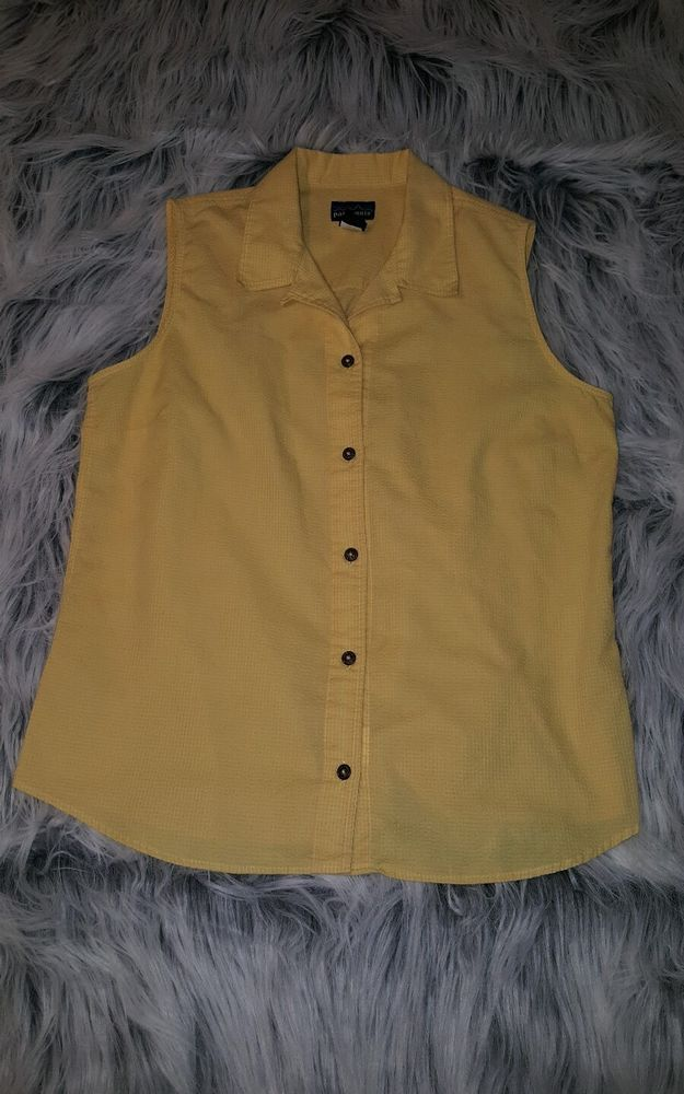 Patagonia womens L yellow Spring hiking button down vest sleeveless shirt EUC | Clothing, Shoes & Accessories, Women's Clothing, Tops & Blouses | eBay!