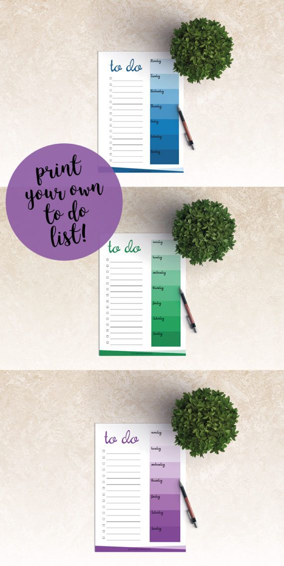 Get stuff done faster and better with this printable weekly to do list in shades of purple. Make planning and working fun with something special all 52 weeks of the year. You will receive a printable pdf file. The to do list is printable in both A4 and A5, with clear margins so you can hole punch it and stick it in your planner. You can also use the list on a separate sheet of paper. Once purchased you can print the to do list as many times as youd like. Please keep in mind that...