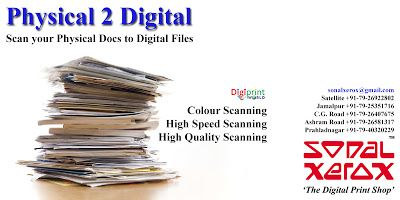 Sonal Xerox Digital Print Services: Physical 2 Digital at Sonal Xerox