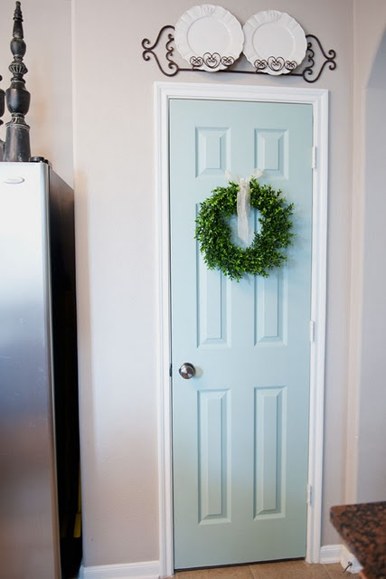 Call it crazy -- but it's beautiful, I just painted my kitchen pantry door!      For my SA house?