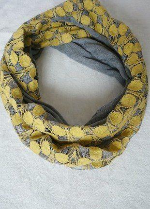 Kup mój przedmiot na #vintedpl http://www.vinted.pl/akcesoria/inne-akcesoria/15369828-modny-komin-w-kolorze-szaro-zoltym
