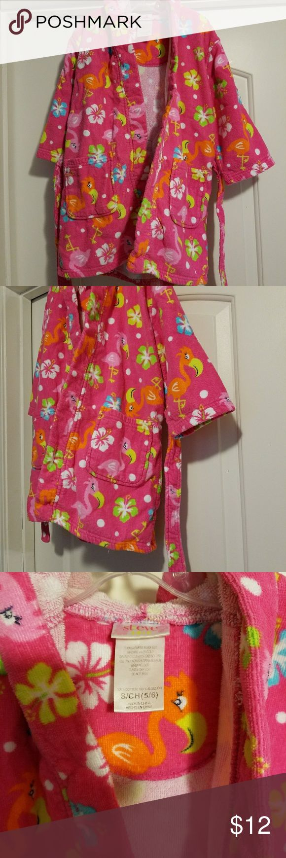 Small Child's Swim Tropical Print Robe How cute is this! Size small 5 child's. Used, but excellent condition. Adorable fun print! #childsswimrobe #childsswimwear #swimwear #bathrobe #childsbathroom #ocean #swim #bathfun Swim Coverups