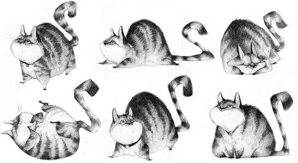 Fat Cat by betsybauer.deviantart.com on @deviantART