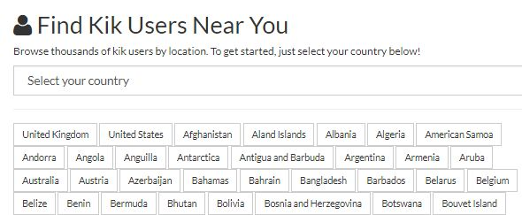 Kik Usernames - Find Kik Users in Your Country