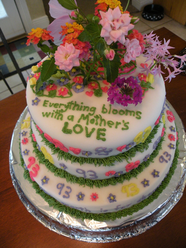 Mother Birthday Cake Photo : 17 Best images about Mother days sweets on Pinterest ...
