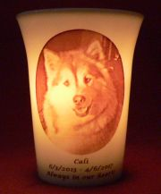 Mourninglights™ custom printed glass memorial candles, memorials, sympathy gifts,mourning gifts, memorial gifts, remembrance candles, remembrance gifts, pet memorials, memorial wedding candles