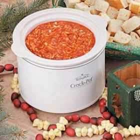 Lake House Lyn: Pizza Fondue in the Slow Cooker