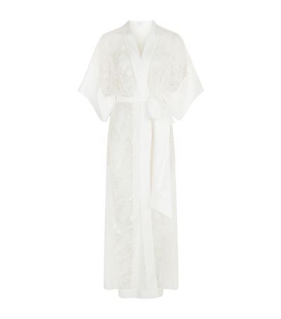 Carine Gilson Long Lace Kimono Robe available to buy at Harrods.com. Shop luxury nightwear online and earn Rewards points.