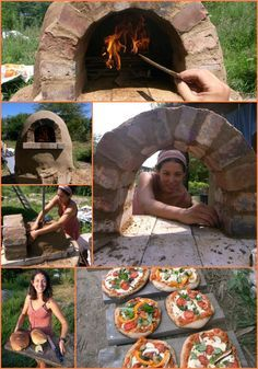 How to Build a Wood-Fired Outdoor Cob Oven for $20...  - forno natural - cozinha - sustentabilidade - sustentability - pizza
