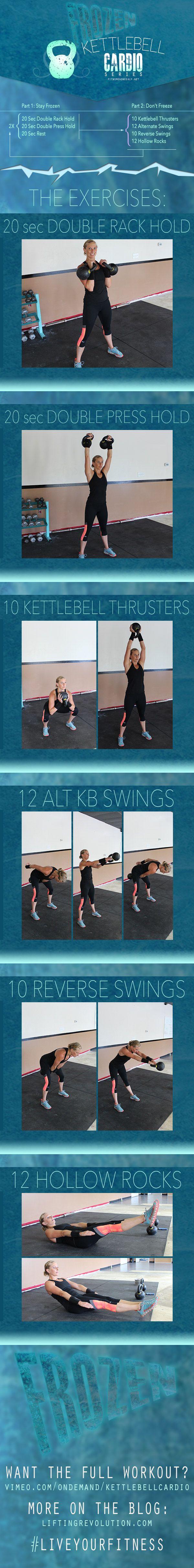 10 Minute Kettlebell Workout Frozen. Total body, fast workout #kettlebells