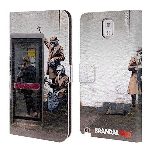 Official Brandalised Spy Booth Banksy Art Branded Graffiti Leather Book Wallet Case Cover For Samsung Galaxy Note 3 ** Check out the image by visiting the link.