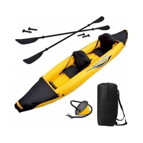 2 PERSON INFLATABLE FISHING KAYAK COMBO PACK BOAT WATER RAFT RIVER LAKE FLOAT  #NOMAD