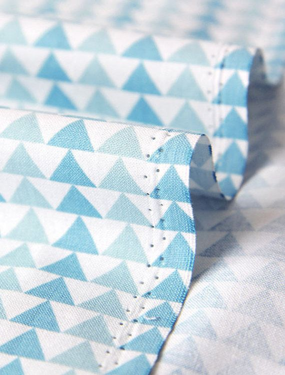 Hey, I found this really awesome Etsy listing at https://www.etsy.com/listing/227860632/blue-triangles-cotton-fabric-geometric