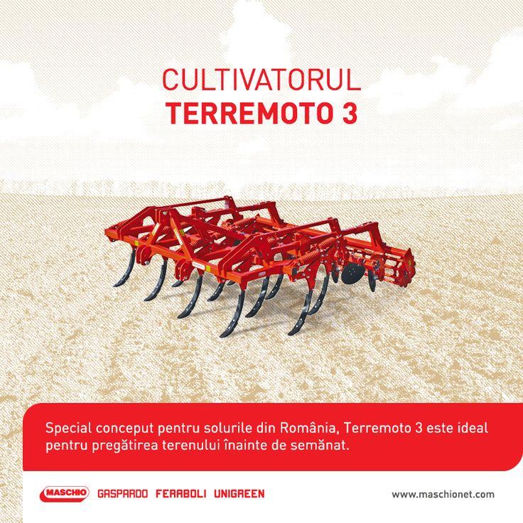 Pentru mărunțirea și afânarea solului înainte de semănat, îți punem la dispoziție un cultivator de excepție: Terremoto 3.