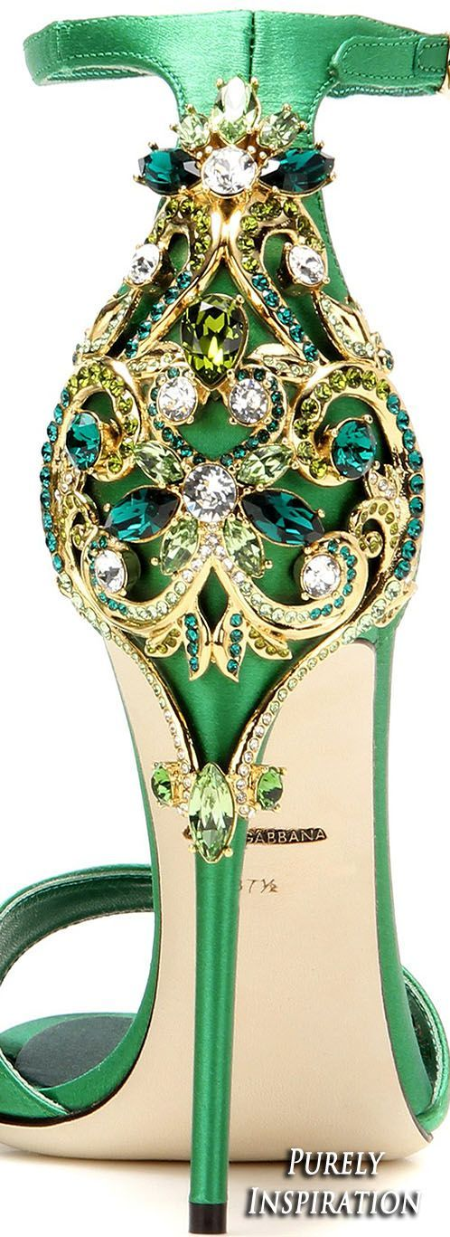 Dolce & Gabbana Women's Embellished Satin #Sandal | Purely Inspiration