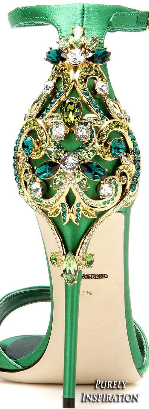 Dolce & Gabbana Women's Embellished Satin #Sandal   Purely Inspiration