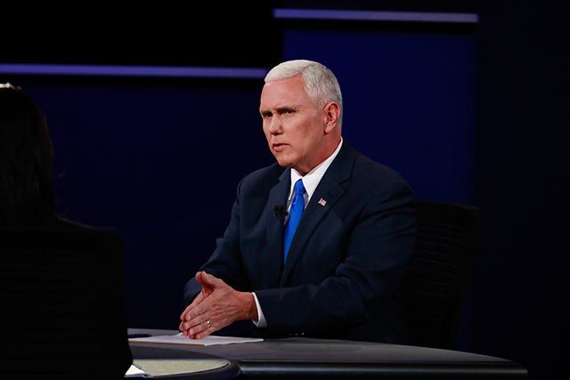 """Gov. Mike Pence of Indiana, Donald Trump's running mate is as """"crooked"""" as they come. In many ways more dangerous than moronic Trump.  Pence uses religion to further his own grubby 'ends"""" - it drivels off his tongue like a proverbial """"snake oilman"""" selling a con. He is a smooth-talking rogue - but he has the proverbial """"fork-tongue""""!"""