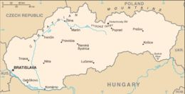 Slovacchia - Mappa