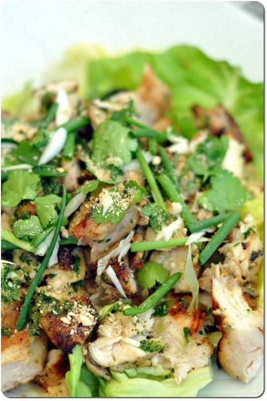 Kaï ping - poulet grillé à la pâte de coriandre (recette thaïe)