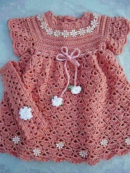Kostenlose Muster: Kinderkleid Häkelmuster Garn