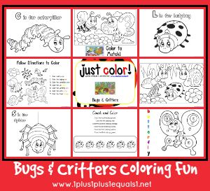 Just Color! ~ Free Bugs & Critters Coloring Printables
