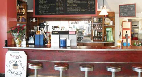 Fairley's Pharmacy has an old-fashioned soda fountain-- 7206 NE Sandy Blvd, Portland OR 97213