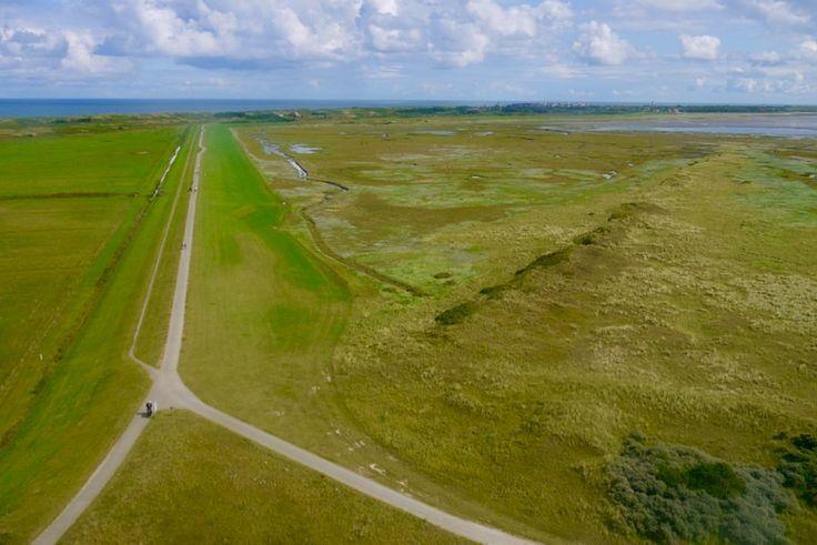 Wangerooge - Spektakulärer Ausblick vom Westturm über den ganzen Westgrodendeich, Marschland, Lagune & Salzwiesen - Ostfriesische Inseln - Nordsee