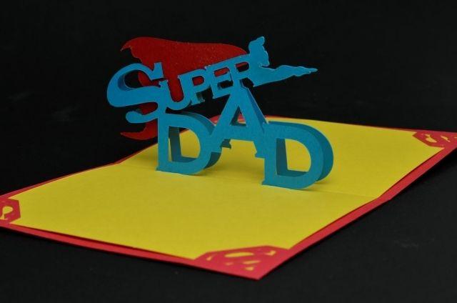 vatertag basteln karte begrüßung papier karton kinder