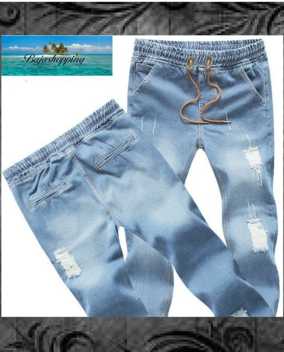Men's Ripped Jean Joggers ~ Save 60% + Free Shipping!