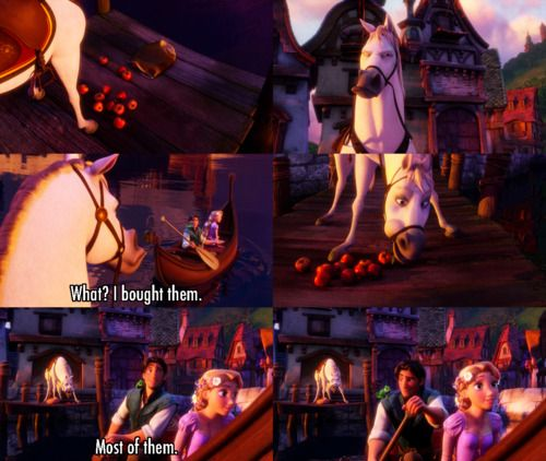 """What? I bought them.."" ~ Tangled (2010) ~ Movie Quotes #amusementphile"