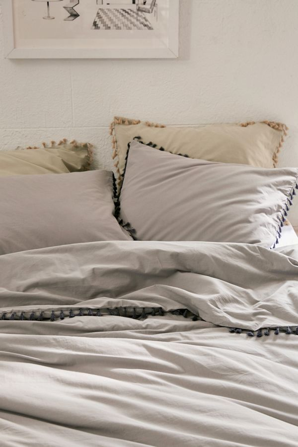 Washed Cotton Tassel Duvet Cover Duvet Cover Master Bedroom Duvet Covers Urban Outfitters Bed Linens Luxury