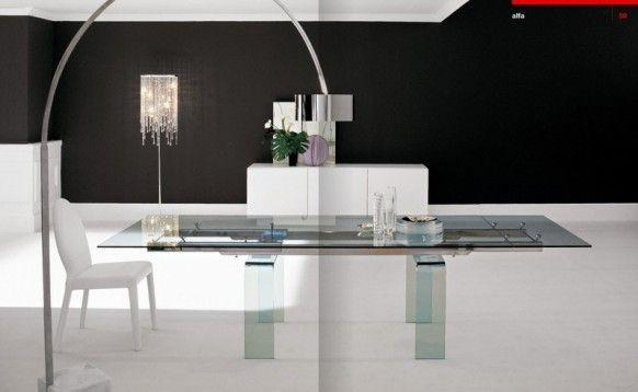 Dining room Cattelan Italia white glass Italy