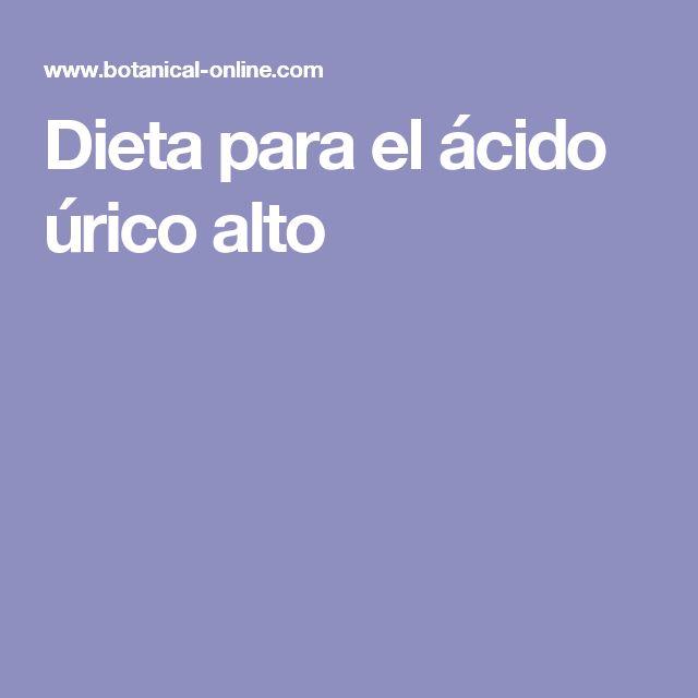 Dieta para el ácido úrico alto