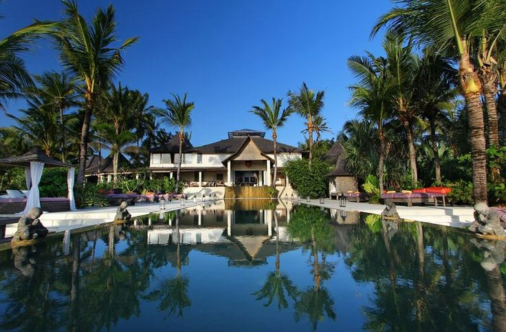 Inspired by culturally rich and exotic places throughout Indonesia, this 7 bedroom villa is a privately owned, luxurious beachfront property featuring an innovative design that defines the relationship between nature and functionality. www.villamokenbobali.com