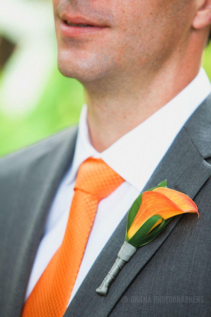 Orange and Grey Wedding // Bahia Resort Wedding // San Diego