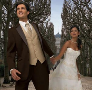 tan and chocolate wedding | Solid Chocolate Brown by Jean Yves