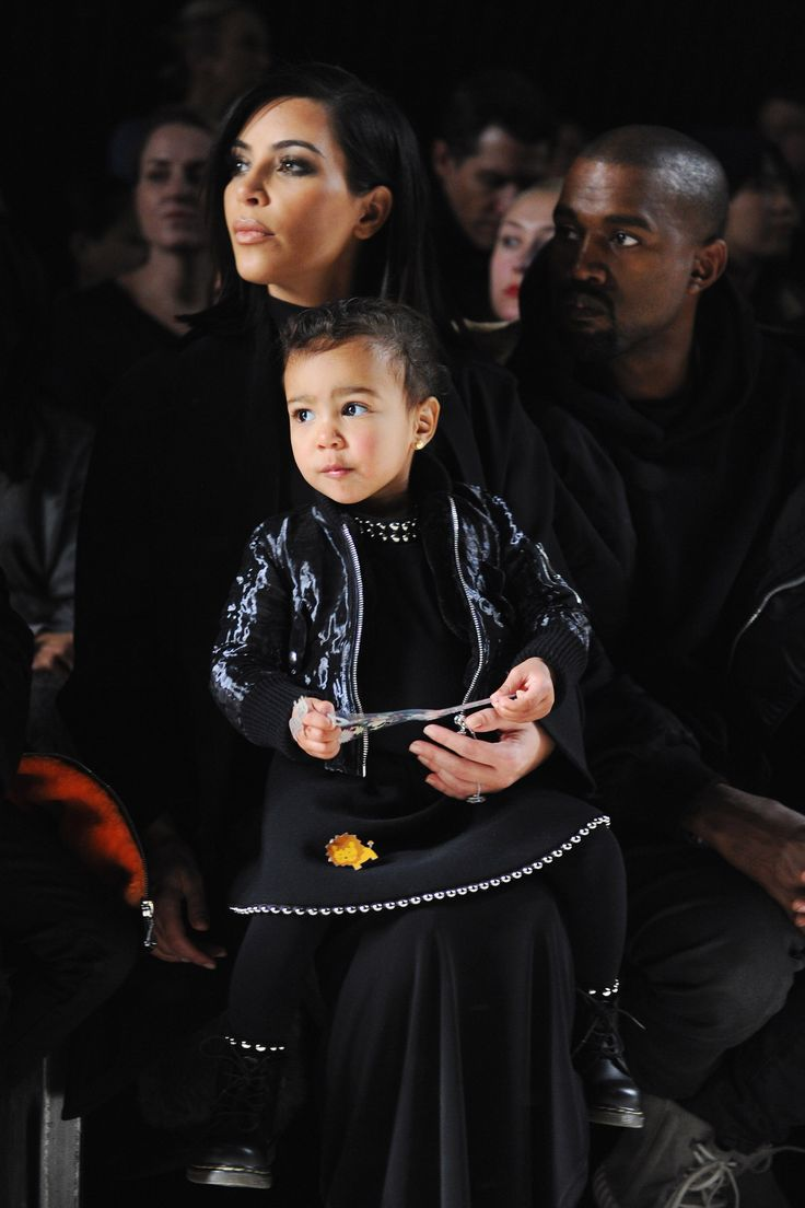While sitting front row at Alexander Wang's Fall 2015 runway show, the well-dressed 18-month-old wears a custom-made look from the designer himself.   - HarpersBAZAAR.com