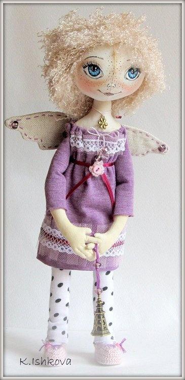 """Коллекционные куклы ручной работы. Ярмарка Мастеров - ручная работа Текстилная кукла """"Виоли"""". Handmade."""