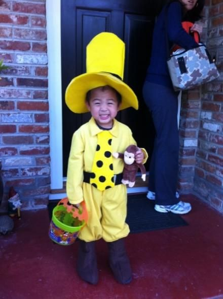 man in the yellow hat & curious george.