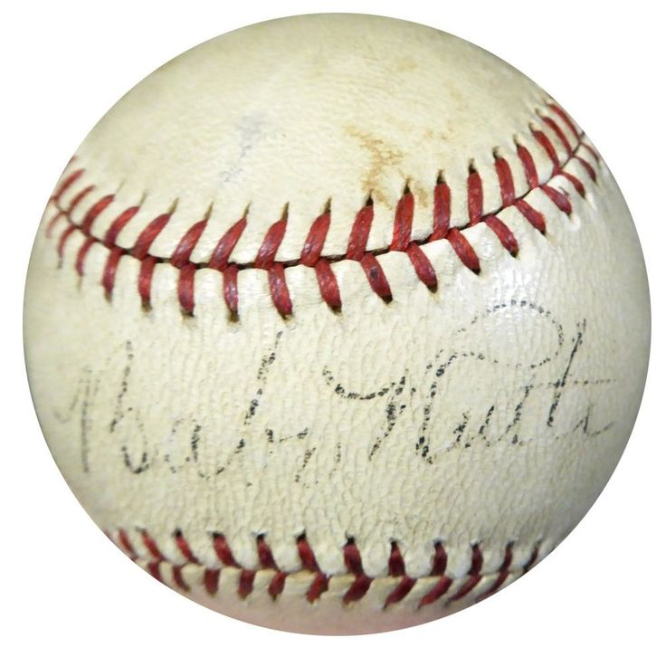 Babe Ruth Autographed Signed Official NL Ford Frick Baseball PSA/DNA