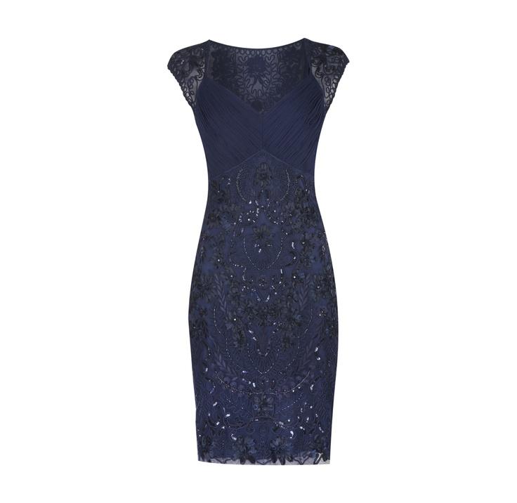 NIENTE Kleid mit Paillettenstickerei #cocktaildress