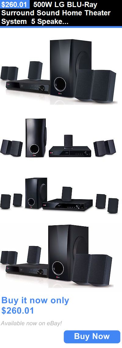 Home Theater Systems: 500W Lg Blu-Ray Surround Sound Home Theater System 5 Speakers + Subwoofer Dvd BUY IT NOW ONLY: $260.01