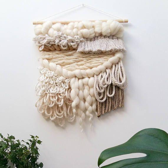Weaving wall hanging textile tapestry boho wall decor fiber