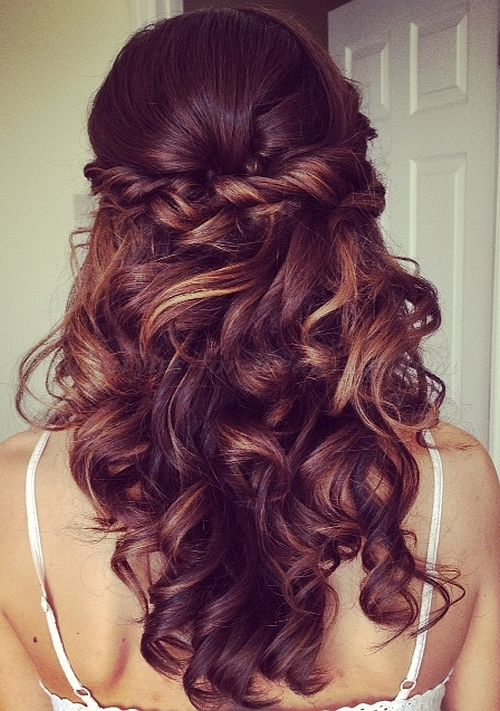 half up half down wedding hairstyles 2015, long wedding hairstyles 2015, wedding updos