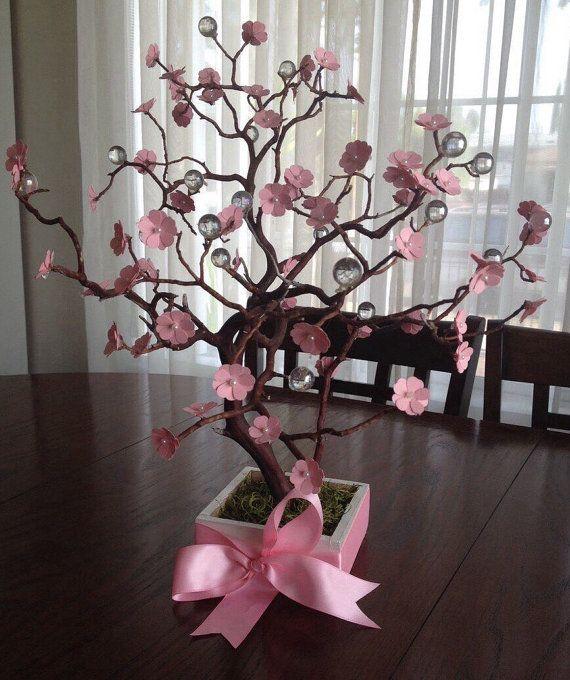 Cherry blossom manzanite tree centerpiece with por DivineCrafted